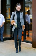 BELLA HADID Out in New York 01/13/2018