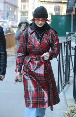 BELLA HADID Out in New York 01/31/2018
