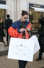 BELLA HADID Out Shopping in Paris 01/19/2018