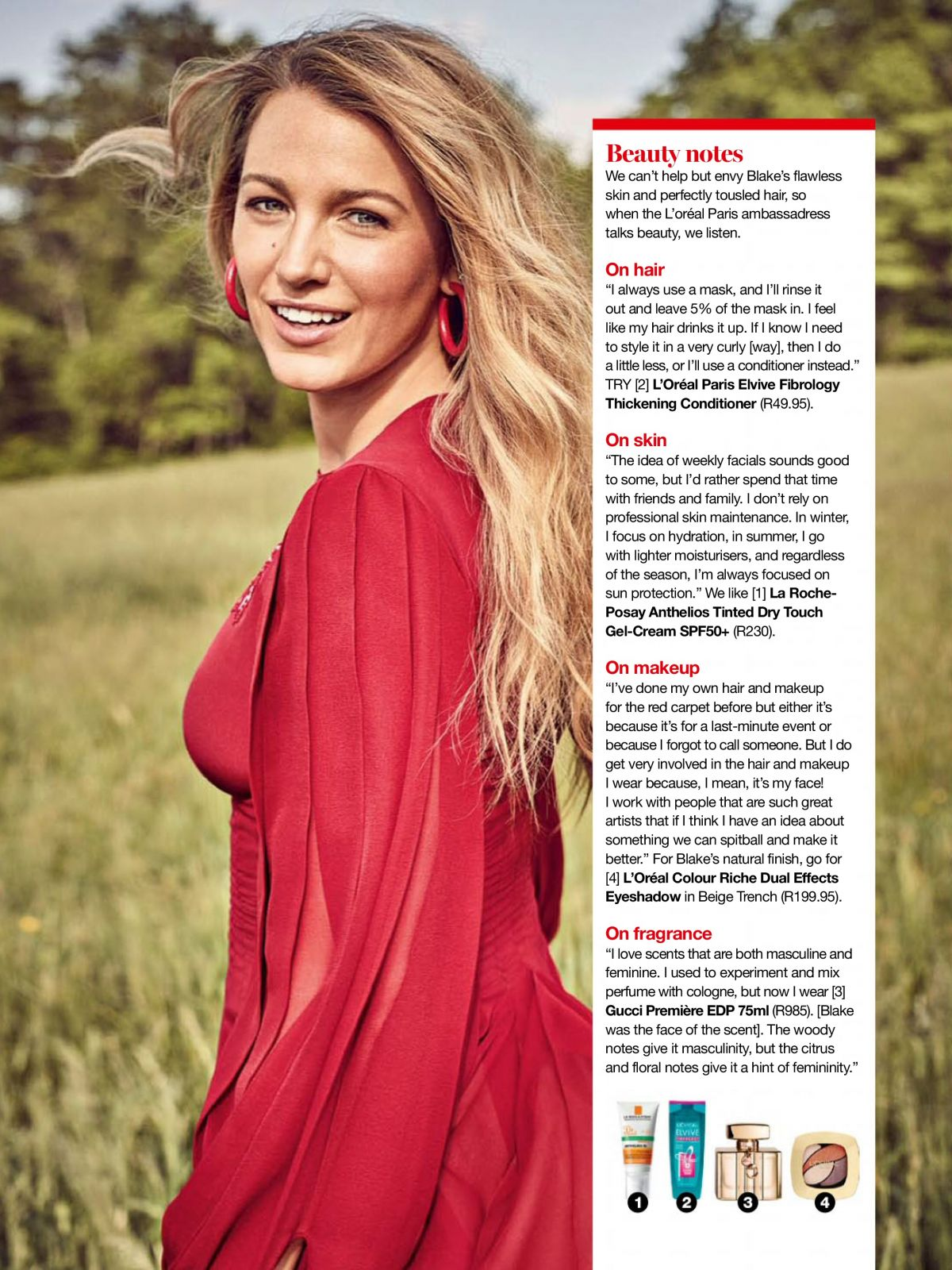 BLAKE LIVELY in Glamour Magazine, South Africa January ...