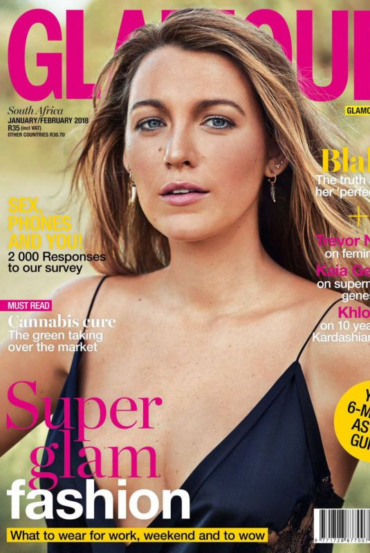 BLAKE LIVELY in Glamour Magazine, South Africa January 2018 Issue