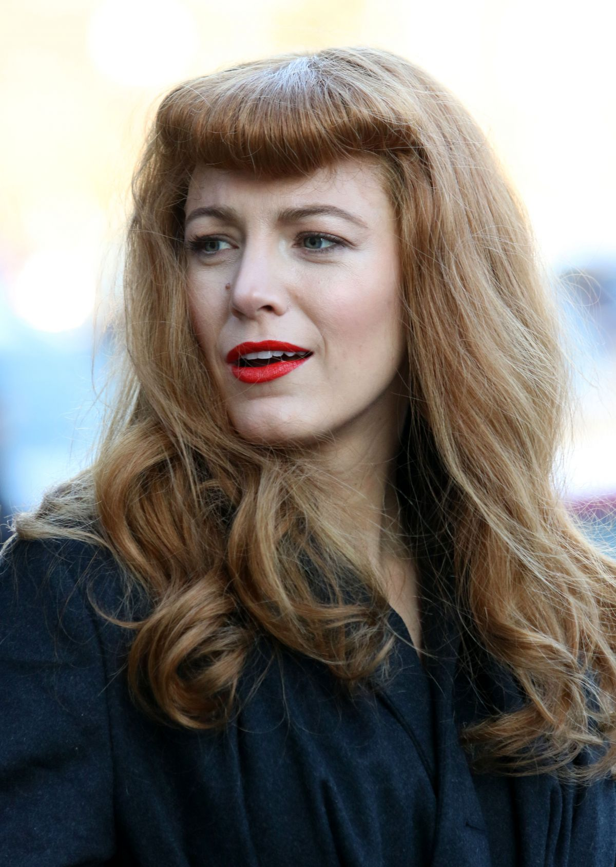 BLAKE LIVELY on the Set of The Rhythm Section in New York ...