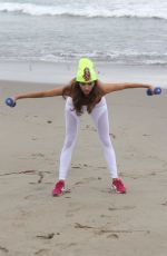BLANCA BLANCO Working Out at a Beach in Malibu 01/21/2018