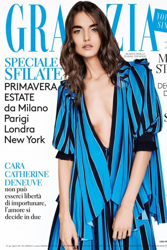 BLANCA PADILLA in Grazia Magazine, Italy January 2018 Issue