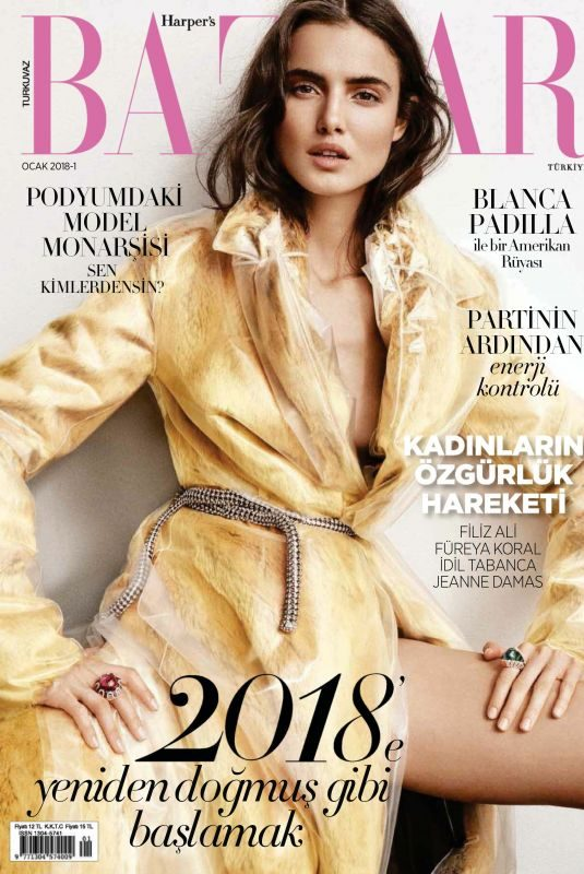 BLANCA PDAILLA in Harper's Bazaar Magazine, Turkey January 2018