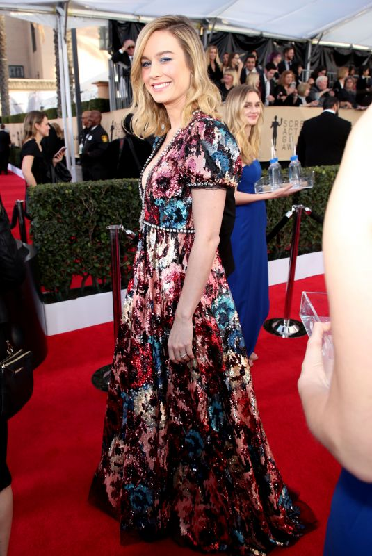 BRIE LARSON at Screen Actors Guild Awards 2018 in Los Angeles 01/21/2018