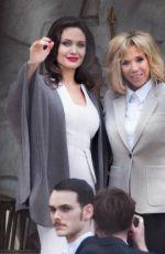 BRIGITTE MACRON and ANGELINA JOLIE at Elysee Palace in Paris 01/30/2018