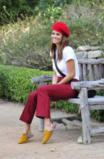 BROOKE BURKE Out and About at Park in Malibu 01/03/2018
