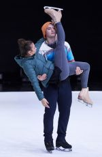 BROOKE VINCENT at Dancing on Ice Practice in Hertfordshire 01/15/2018