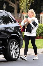 BUSY PHILIPPS Leaves a Gym in Los Angeles 01/25/2018