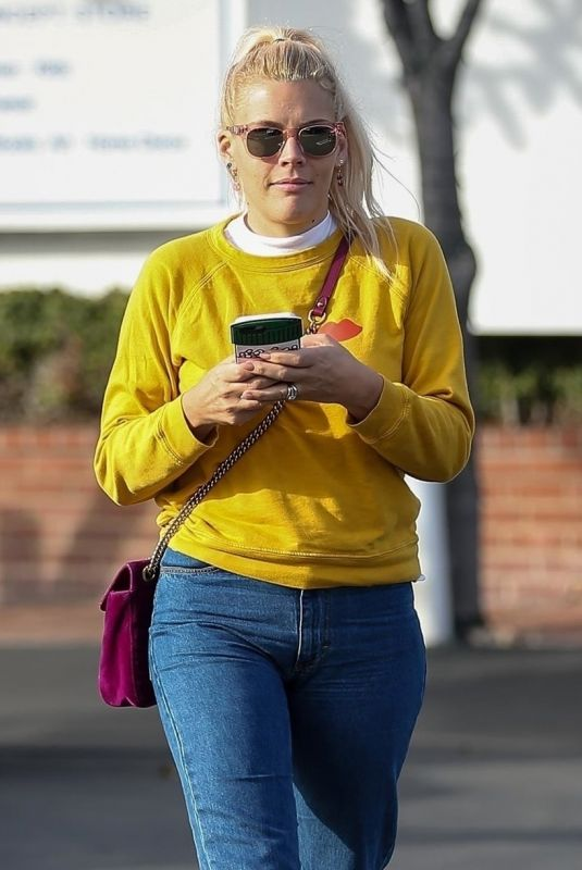 BUSY PHILIPPS Leaves Fred Segal in West Hollywood 01/15/2018
