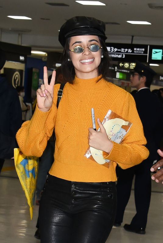 CAMILA CABELLO Arrives at Airport in Tokyo 01/31/2018