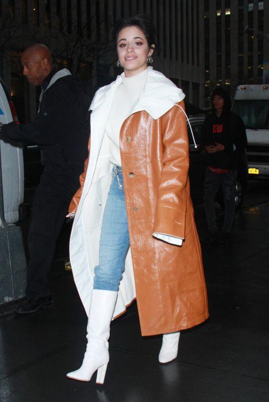 CAMILA CABELLO Leaves SiriusXM Studios in New York 01/12/2018