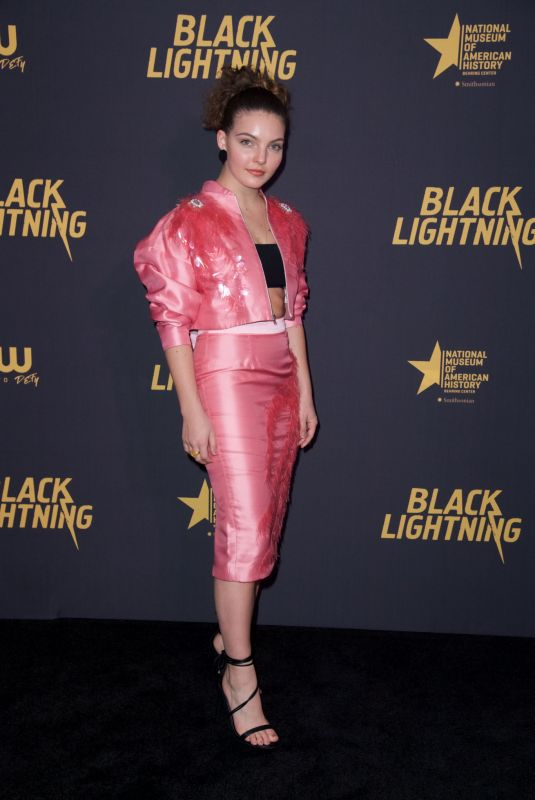 CAMREN BICONDOVA at Black Lightning Premiere in Washington 01/13/2018