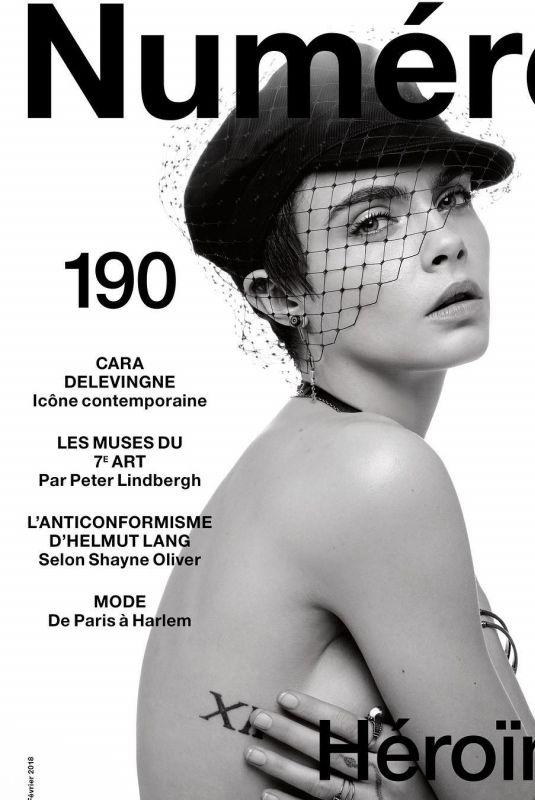 CARA DELEVINGNE in Numero Magazine, #190 February 2018 Issue