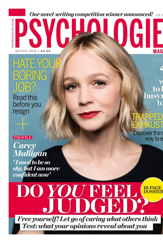 CAREY MULLIGAN in Psychologies Magazine, March 2018 Issue