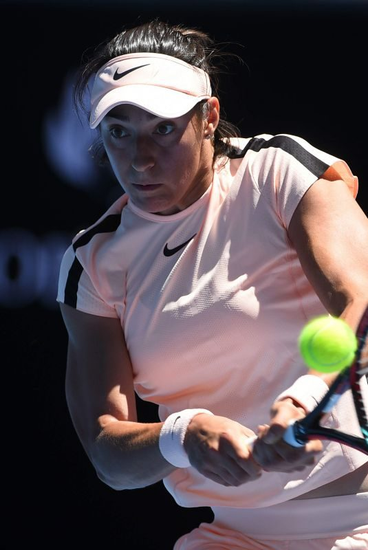 CAROLINE GARCIA at Australian Open Tennis Tournament in Melbourne 01/16/2018