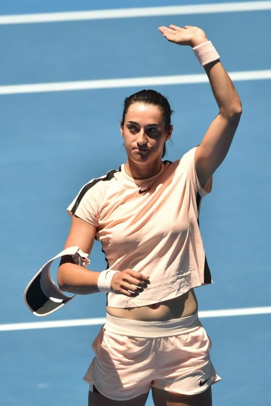 CAROLINE GARCIA at Australian Open Tennis Tournament in Melbourne 01/18/2018