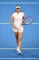 CAROLINE GARCIA at Practice Session at Australian Open Tennis Tournament in Melbourne 01/13/2018