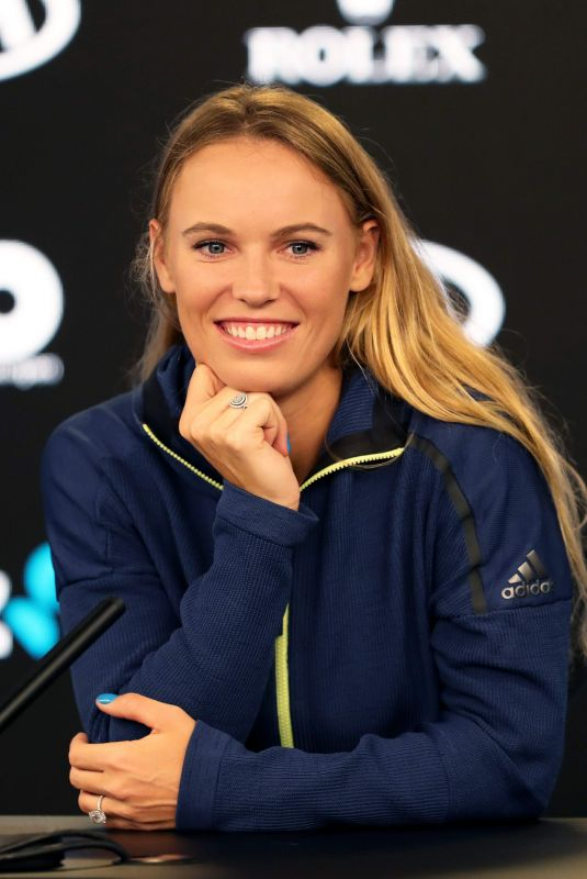 CAROLINE WOZNIACKI at Australian Open Tennis Championships Press Conference in Melbourne 01/13/2018