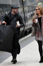 CATHERINE TYLDESLEY at Train Station in Manchester 01/23/2018
