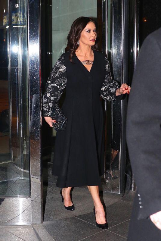 CATHERINE ZETA Jones at Late Night with Seth Meyers in New York 01/18/2018
