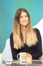 CHARLEY WEBB at Loose Women Show in London 01/04/2018