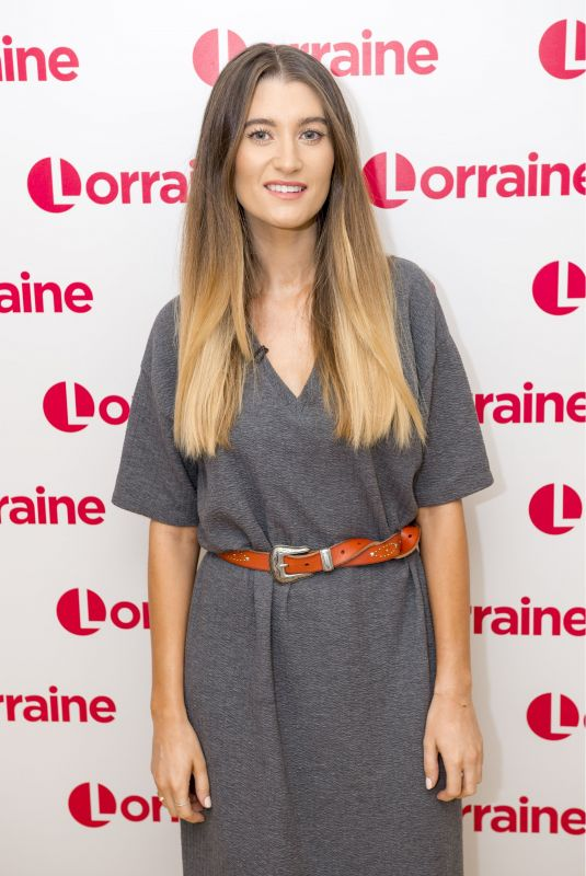 CHARLEY WEBB at Lorraine TV Show in London 01/19/2018