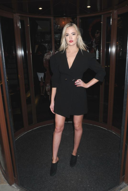 CHARLI FISHER at Curves Modeling Agency Party in London 01/22/2018