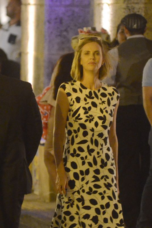 CHARLIZE THERON on the Set of Flarsky in Colombia 01/26/2018