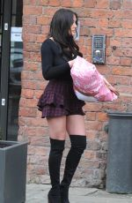 CHARLOTTE CROSBY Leaves Titanic Hotel in Liverpool 01/12/2018