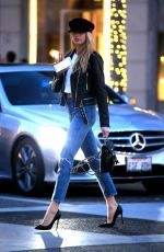 CHARLOTTE MCKINNEY in Jeans Out and About in Beverly Hills 01/172018