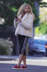 CHARLOTTE MCKINNEY on the Set of a Photoshoot in Los Angeles 01/27/2018