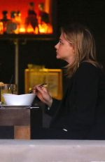 CHLOE MOETZ Out for Dinner with Her Brother in Studio City 01/27/2018