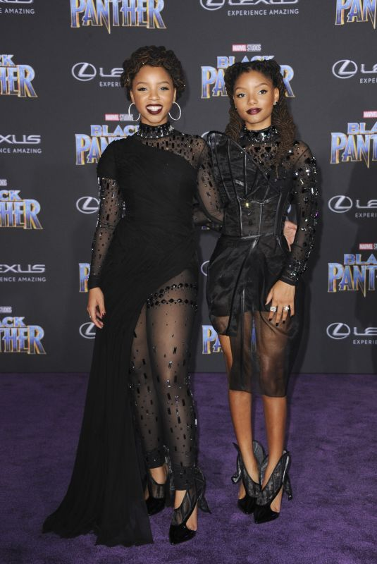 CHLOE X HALLE at Black Panther Premiere in Hollywood 01/29/2018