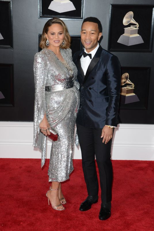 CHRISSY TEIGEN and John Legend at Grammy 2018 Awards in New York 01/28/2018