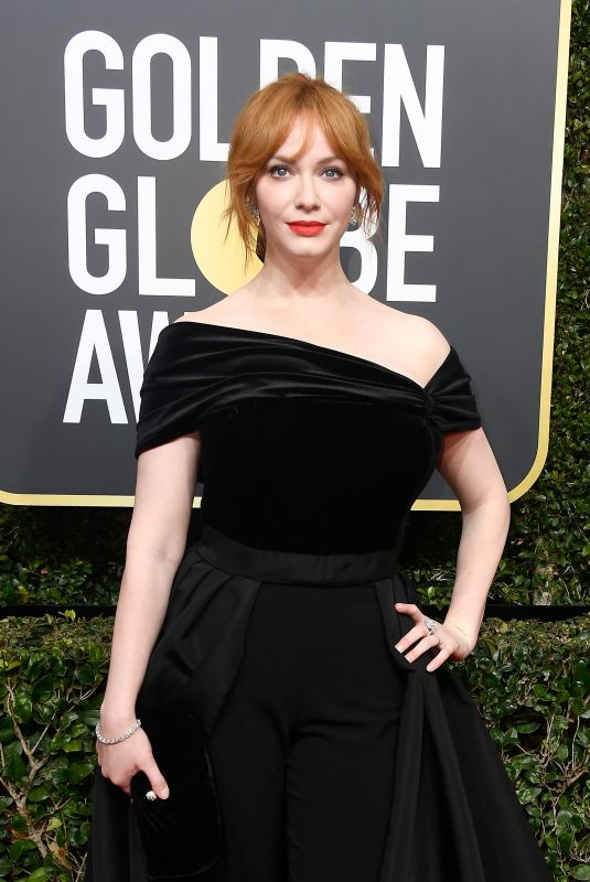 CHRISTINA HENDRICKS at 75th Annual Golden Globe Awards in Beverly Hills 01/07/2018
