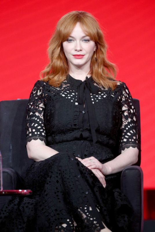 CHRISTINA HENDRICKS at Good Girls Panel at TCA Winter Press Tour in Pasadena 010/9/2018