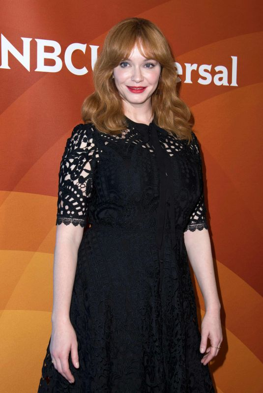CHRISTINA HENDRICKS at NBC/Universal TCA Winter Press Tour in Los Angeles 01/09/2018