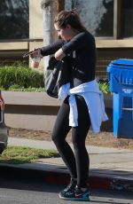 CHRISTINA SCHWARZENEGGER Leaves a Gym in Brentwood 01/15/2018