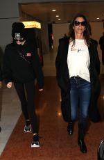 CINDY CRAWFORD and KAIA GERBER at Charles De Gaulle Airport in Paris 01/19/2018