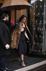 CINDY CRAWFORD Leaves Georges V Hotel in Paris 01/21/2018