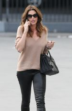 CINDY CRAWFORD Out and About in Santa Monica 01/25/2018