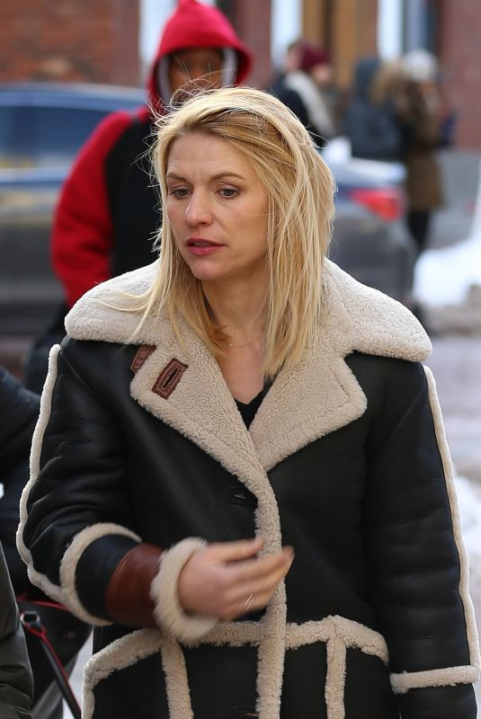 CLAIRE DANES Out at Sundance Film Festival in Park City 01/21/2018