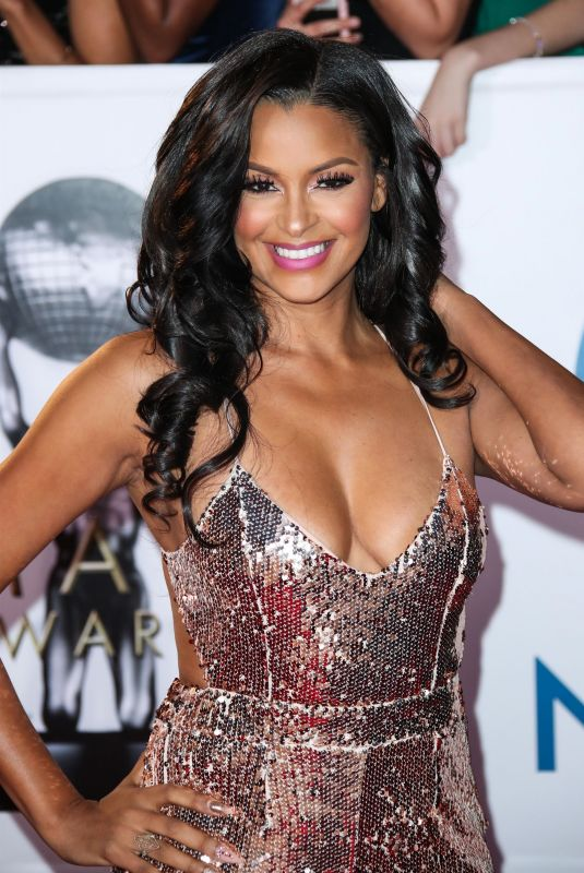 CLAUDIA JORDAN at 49th Naacp Image Awards in Pasadena 01/14/2018