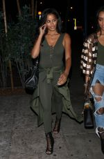 CLAUDIA JORDAN at Delilah Restaurant in West Hollywood 01/18/2018
