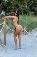 CLAUDIA ROMANI in Bikini at South Beach in Miami 01/07/2018