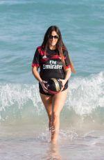 CLAUDIA ROMANI in Bikini Bottom on the Beach in Miami 01/27/2018