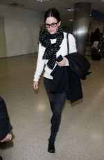 COURTNEY COX at Los Angeles International Airport 01/21/2018