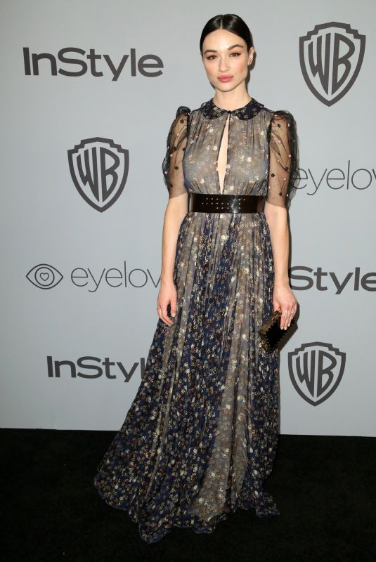 CRYSTAL REED at Instyle and Warner Bros Golden Globes After-party in Los Angeles 01/07/2018